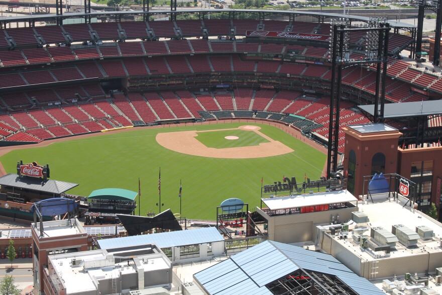 Busch Stadium in Downtown St. Louis.