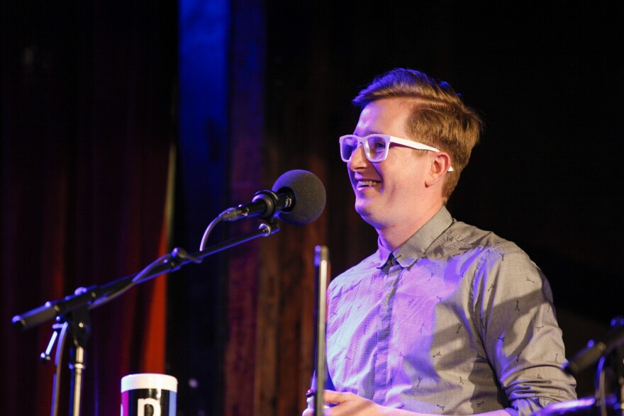 Kyle Jarrow appears on Ask Me Another at the Bell House in Brooklyn, New York.