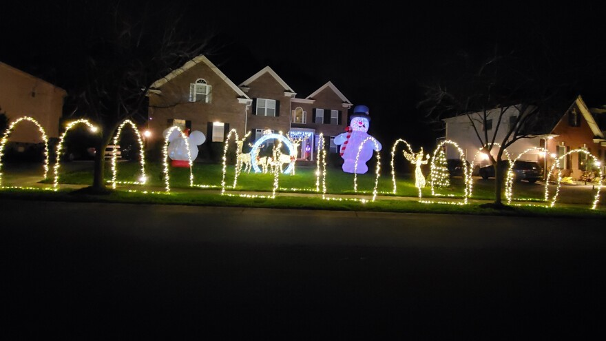 Maya Robinson-Napier of Huntersville, N.C., decorated her house more than usual this year.