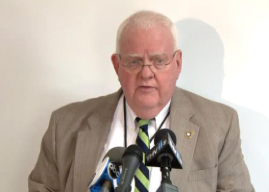 Arkansas State Police spokesman Bill Sadler shown addressing the media in May of 2013.