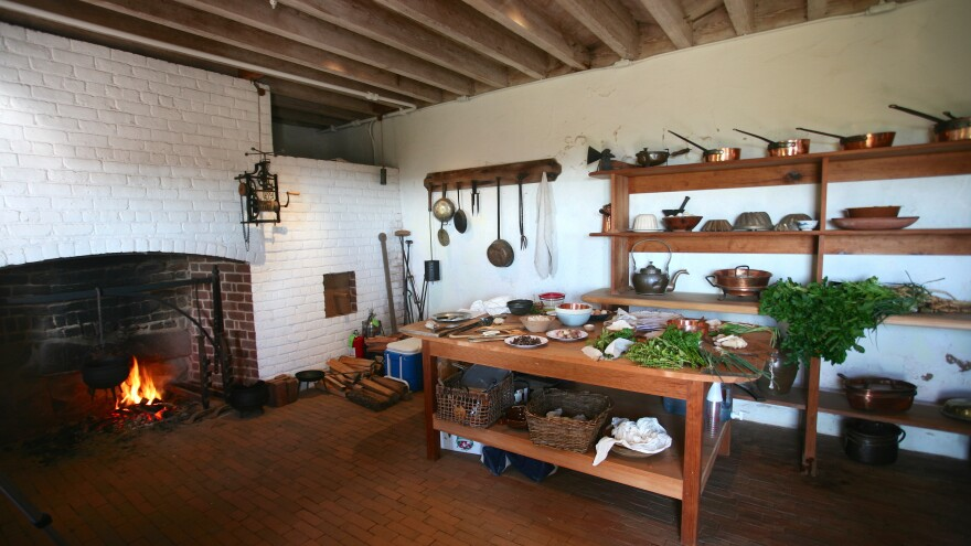 In the historic kitchen of Monticello, using period utensils, food historian Paula Marcoux recreates 18th-century French dishes as James Hemings would have made them. Hemings — who spent five years with Thomas Jefferson in France — had a mastery of French cooking far beyond what was found in most American households of the era.
