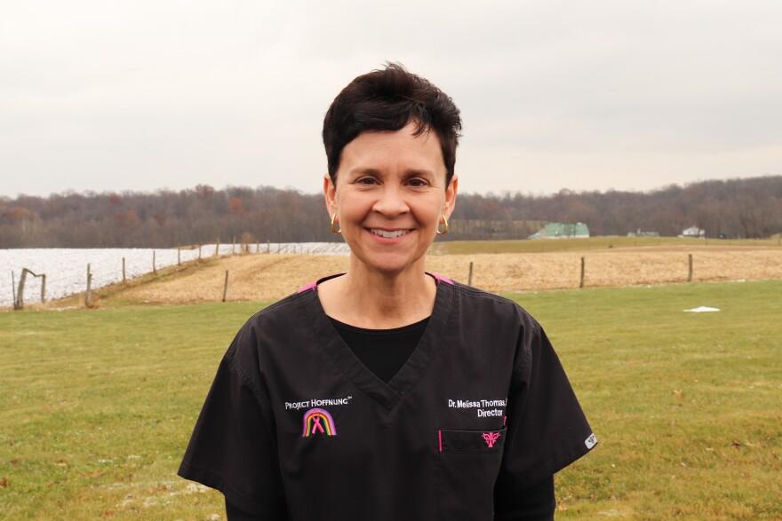 Melissa Thomas organizes mobile mammography clinics for Amish women.