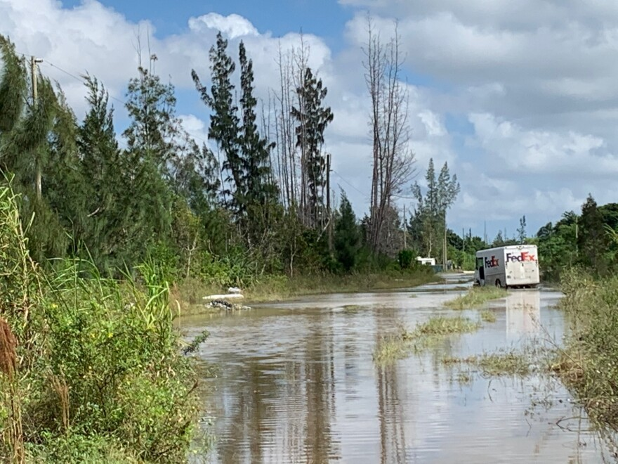 Flooding in the Las Palmas neighborhood just east of Everglades National Park in November stranded a FedEx truck.