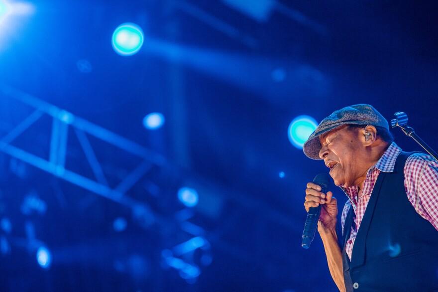 Al Jarreau performs at 2015 Rock in Rio in Brazil.