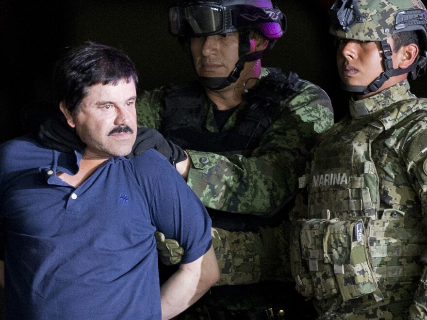 "Joaquín ""El Chapo"" Guzmán was extradited to the U.S. in 2017 after two successful escapes from Mexican prisons. On Thursday, the Justice Department announced two of his sons have been indicted on a drug conspiracy charge. Both brothers are believed to be fugitives in Mexico."