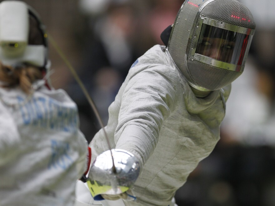 Ibtihaj Muhammad started fencing after running track and playing volleyball, softball and other sports.