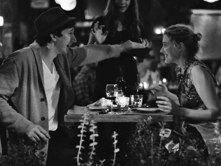 Adam Driver (left), known for his role on HBO's <em>Girls,</em> co-stars with Gerwig in <em>Frances Ha</em>.