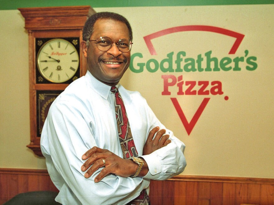 <p>Herman Cain became a vice president at Pillsbury, left that job and started over at Burger King, where he climbed the corporate ladder again. Eventually, he became CEO of Godfather's Pizza, which he is credited with turning.</p>