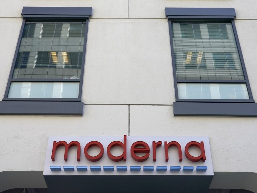 Federal regulators have granted an emergency use authorization to the vaccine developed by Moderna, whose Massachusetts headquarters are seen here.