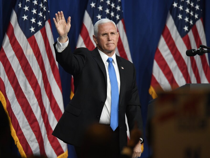 Pence is next in line to succeed to the presidency should President Trump's health decline.