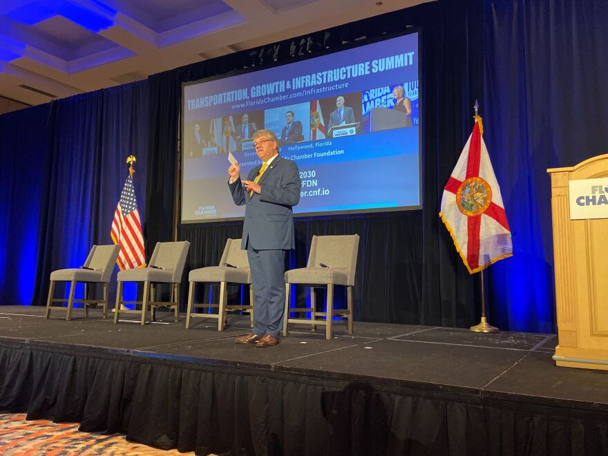 Florida Department of Transportation Secretary, Kevin Thibault, spoke to a crowd at the summit at the Diplomat Beach Resort in Hollywood on Thursday morning. He touched on the need to increase safety in the state.