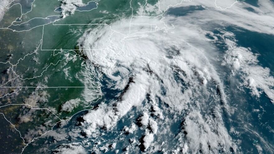 Tropical Storm Fay satellite image