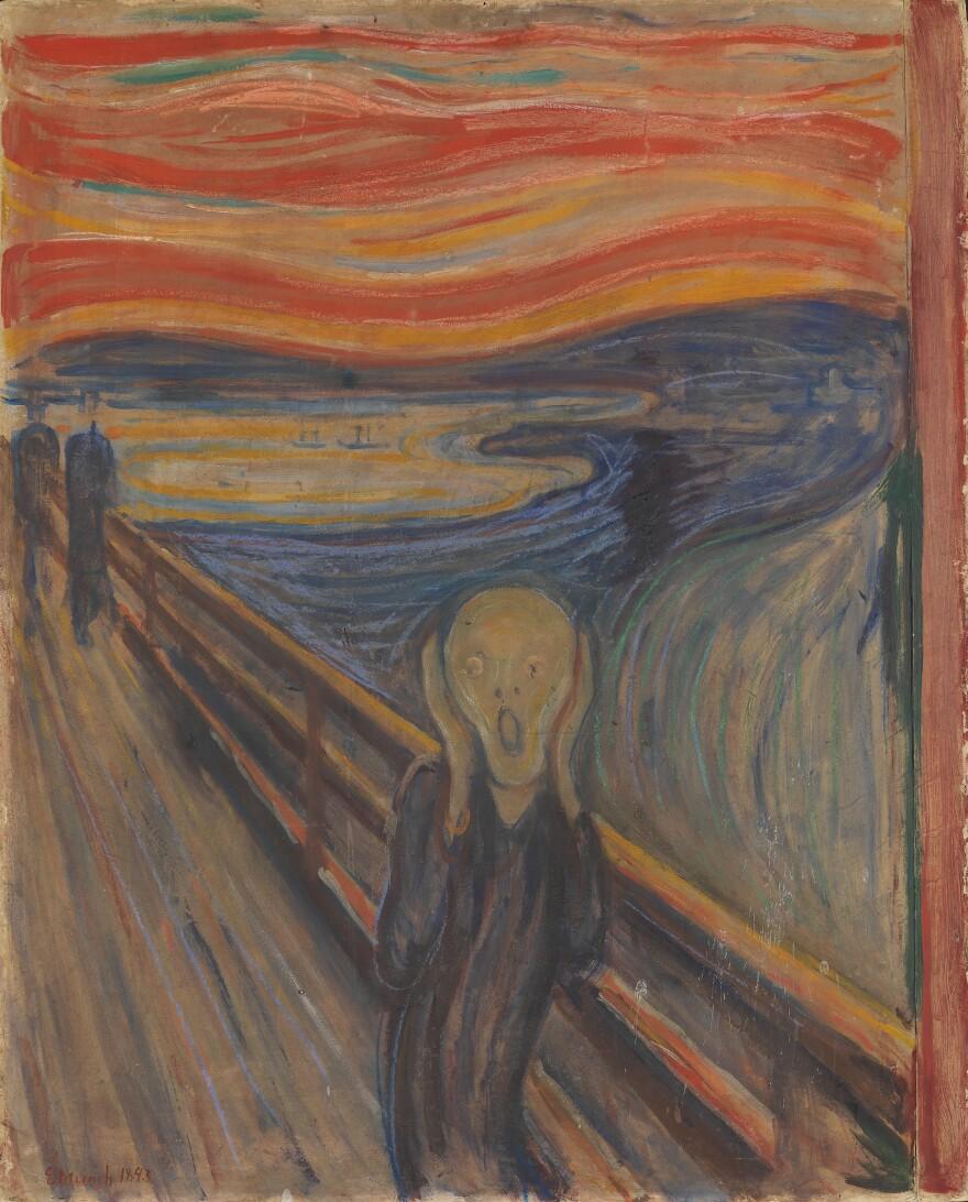 <em>The Scream</em>, 1895, Edvard Munch.