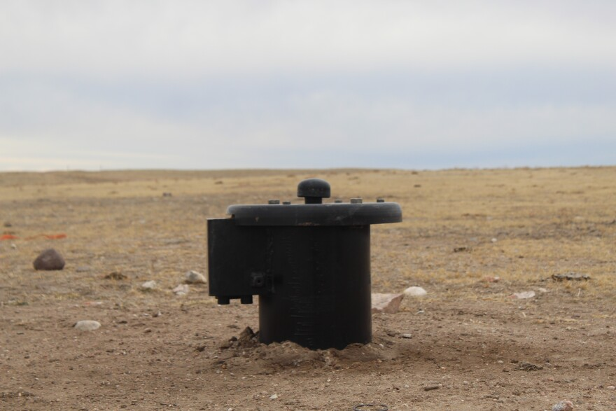 A capped well emerges from the ground at Terry Ranch on the Colorado-Wyoming border. The well was part of the city's diligence process to see if the aquifer under the ranch can work well as a drinking water supply.