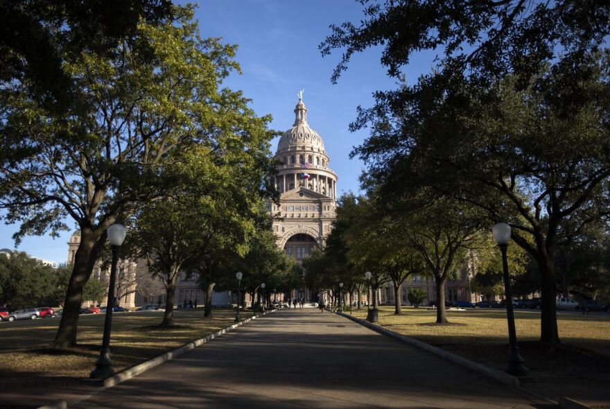 The Texas State Capitol on the first day of the 86th legislative session.