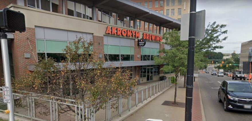 a photo of the exterior of Akronym Brewing