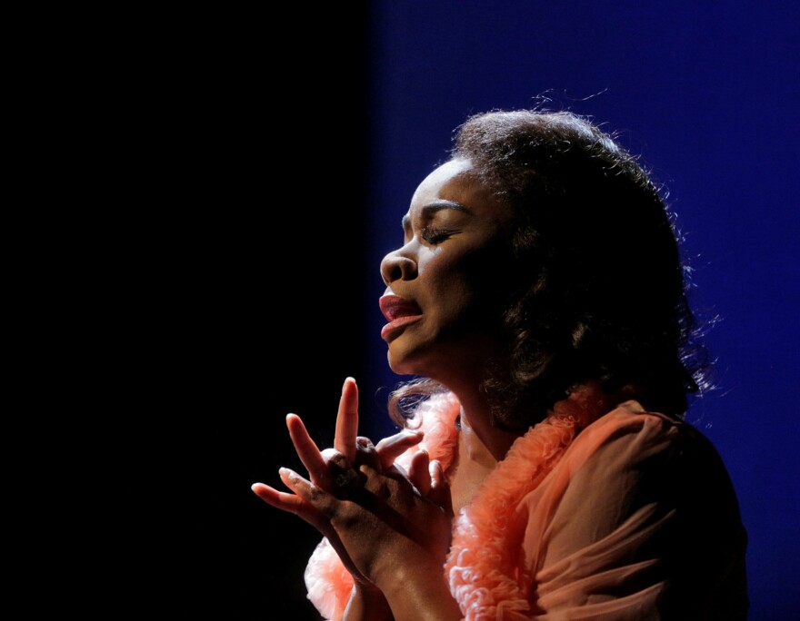 """Denyce Graves in """"Champion,"""" a joint production of Opera Theater of St. Louis and Jazz St. Louis in 2013"""