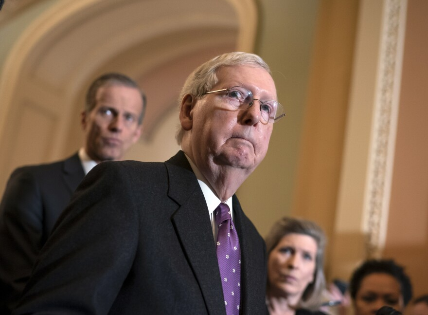 Senate Majority Leader Mitch McConnell canceled this week's scheduled recess in order to take up the House bill on the coronavirus response.