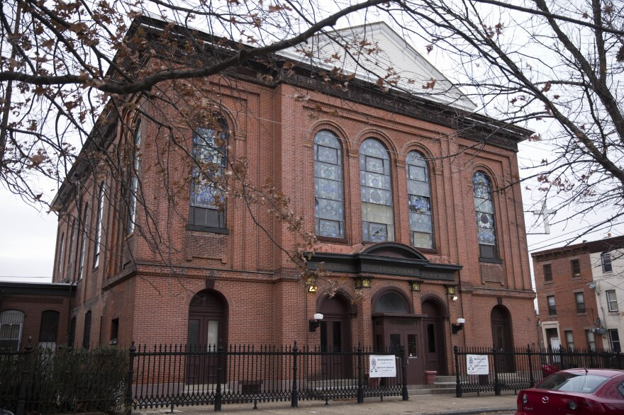 The West Kensington Ministry church in Philadelphia, seen here in 2014, is one of about a dozen churches offering sanctuary to Central American immigrants who are under deportation orders.