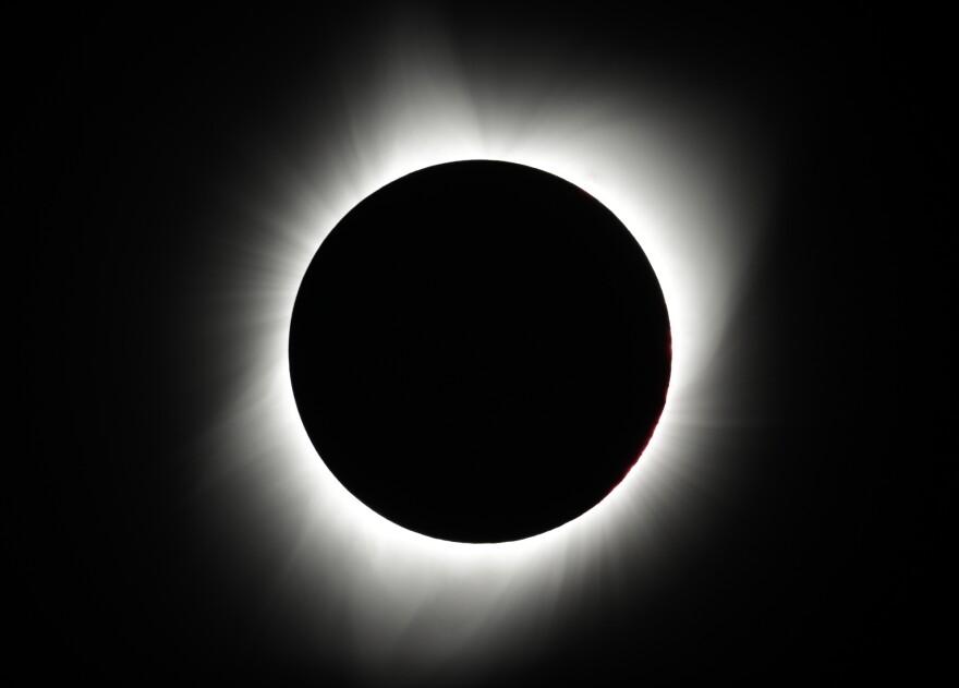 The moon covers the sun near Redmond, Ore.