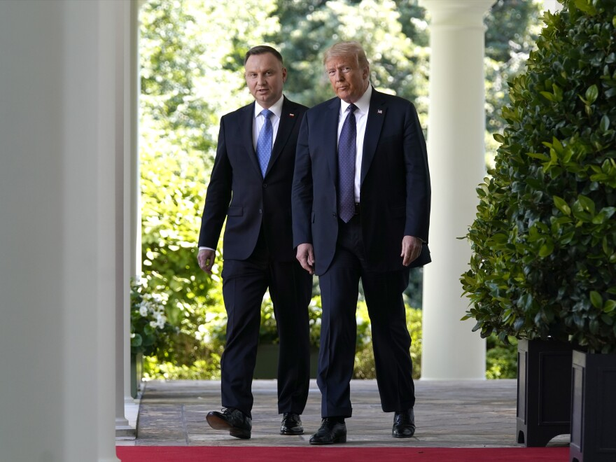 President Trump and Polish President Andrzej Duda at the White House in June.