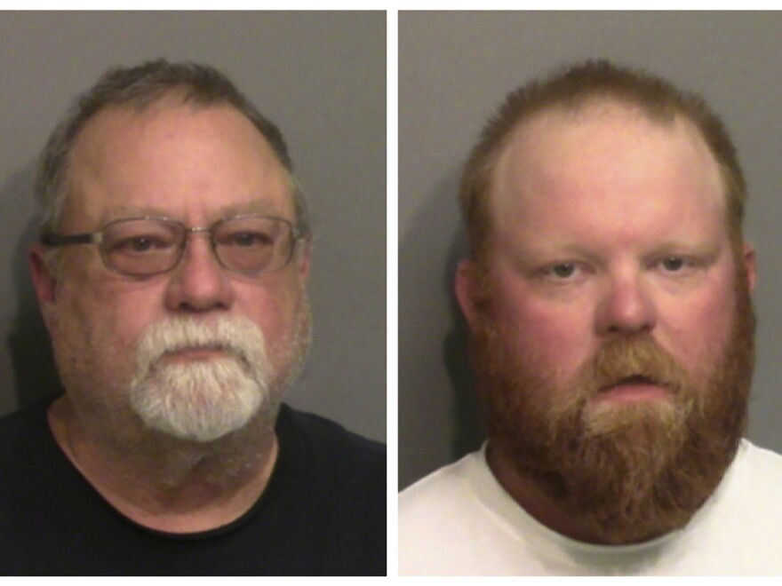 Gregory McMichael and his son, Travis McMichael, have been charged with murder in the February shooting death of Ahmaud Arbery. A video apparently shows them pursuing him in a truck as he jogged in their neighborhood.