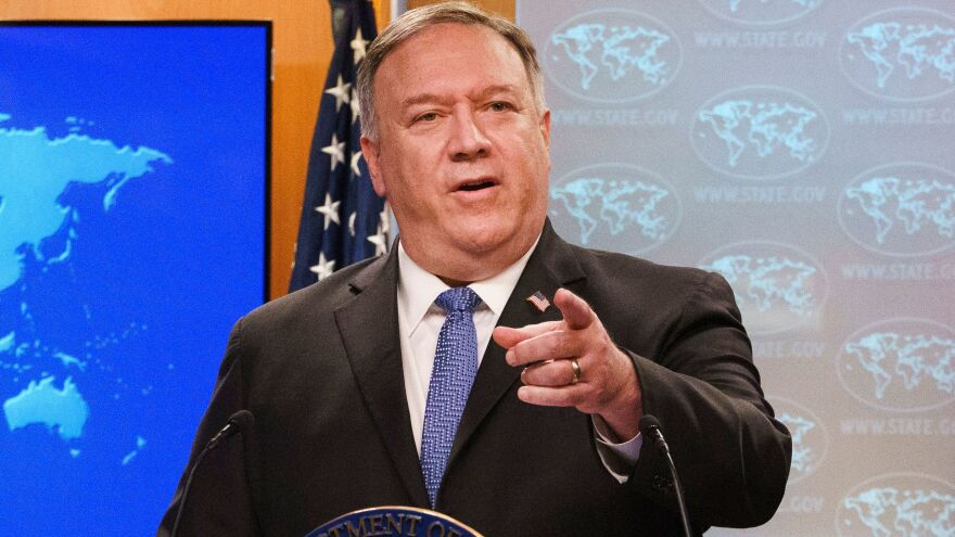 "Secretary of State Mike Pompeo answered questions about a transition to a Biden administration by telling reporters the election is not yet decided. ""When we get it right, we'll get it right. We're in good shape,"" Pompeo said."