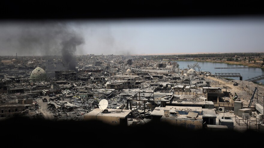A view on Mosul's Old City, taken shortly before Iraqi forces retook the city.