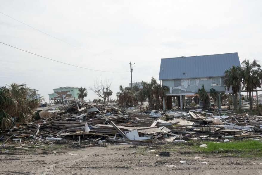 Mexico Beach lost 75% of its structures to Hurricane Michael. The town's mayor says FEMA has so far reimbursed about half of what's needed for rebuilding.