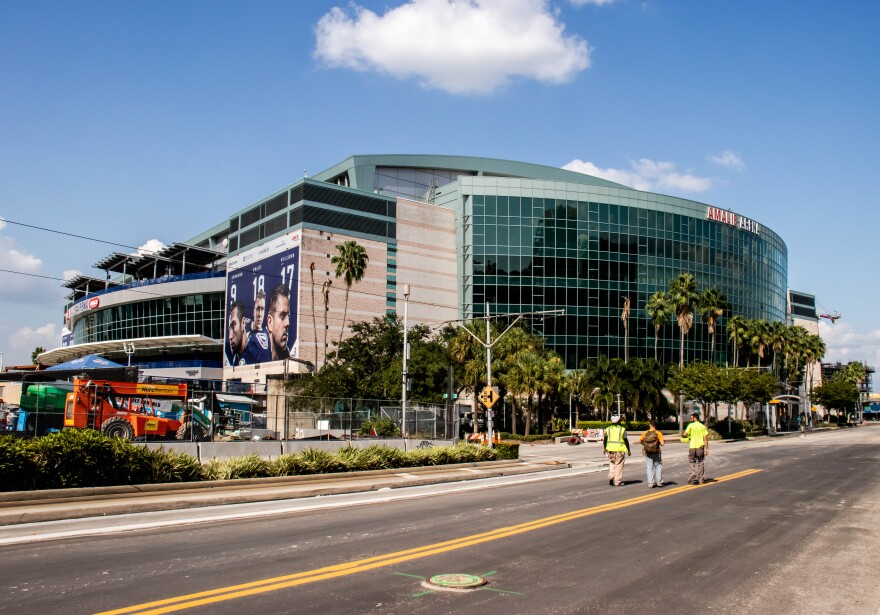 Only essential staff and players' families will be allowed inside Amalie Arena in Tampa to watch first- and second-round NCAA Division I Men's Basketball Tournament games.