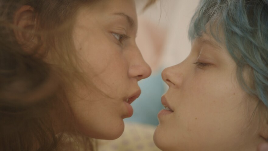 <em>Blue Is the Warmest Color</em> chronicles the love affair between high school student Adèle (Adèle Exarchopoulos, left) and Emma (Léa Seydoux), who is older and more experienced.