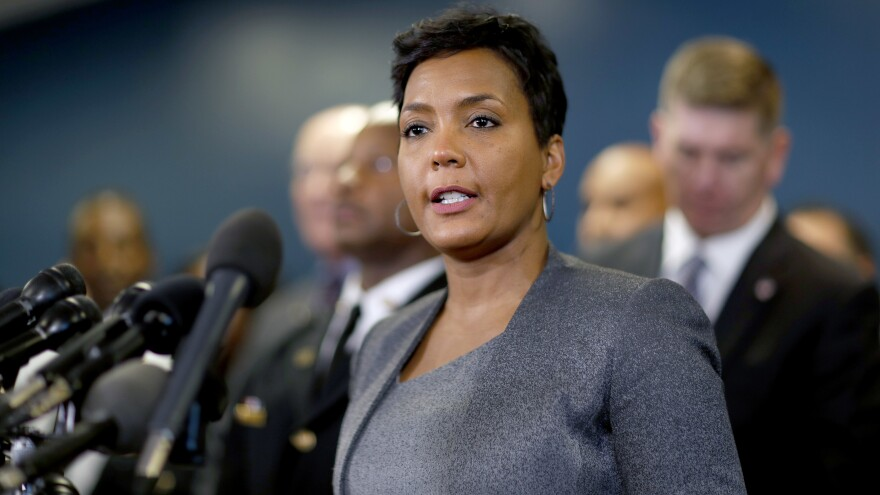 Mayor Keisha Lance Bottoms speaks at a press conference in Atlanta in January.