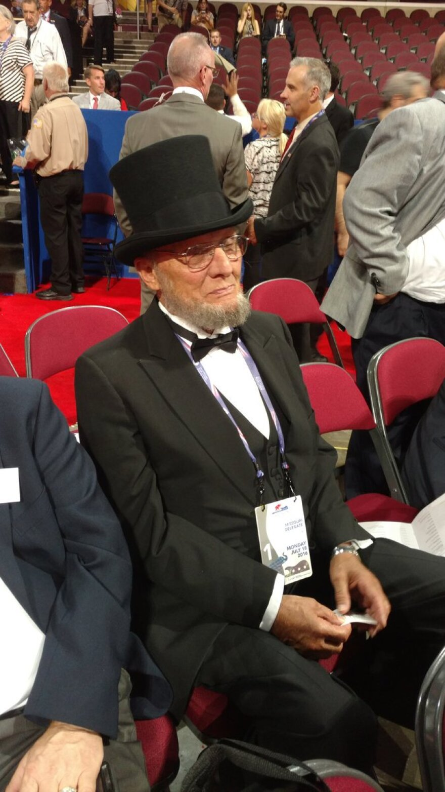 George Engelbach, a member of the Jefferson County Council,  at the RNC 2016