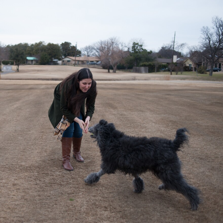Rady, shown with her dog, says she's now able to exercise regularly, and hopes to be able to have children.