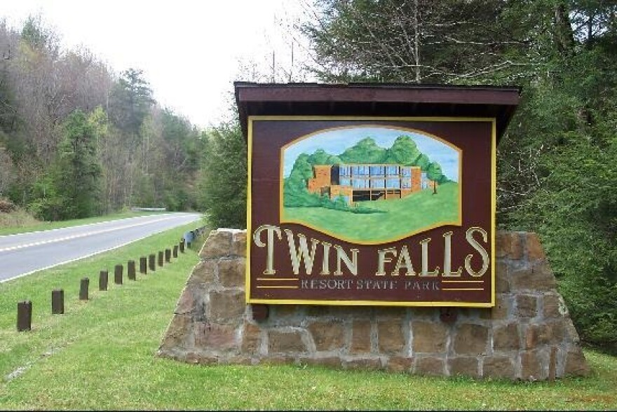 Twin Falls State Park entrance