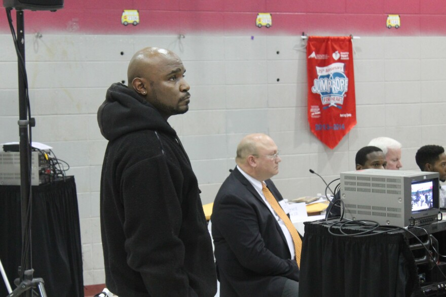 """Vonderrit Myers, Sr., spoke before the commission started its work on Monday. """"No one really knows him,"""" he said of his son, Vonderrit Myers, Jr. """"He was a good guy. And he was just loving person. And I'm just looking at justice for my son."""" Police offici"""