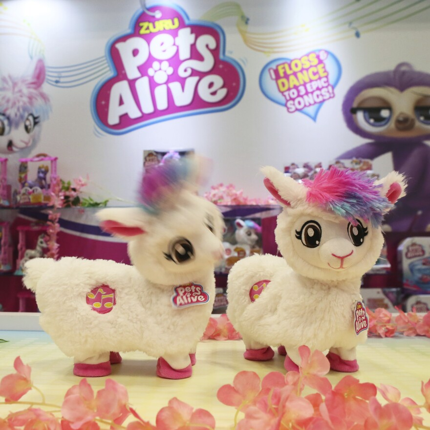 Boppi the Booty Shakin' Llama, from Zuru's Pets Alive line, combines llamas and butts, two top trends at the North American International Toy Fair.
