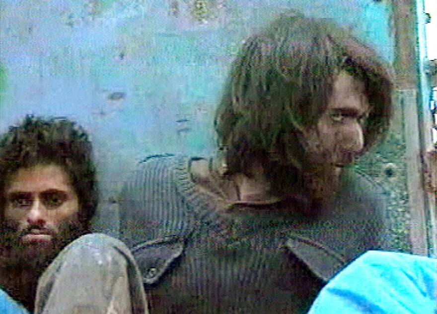 This image from television footage shows John Walker Lindh in Afghanistan on Dec. 1, 2001. Lindh was a Taliban soldier who was captured at that time.