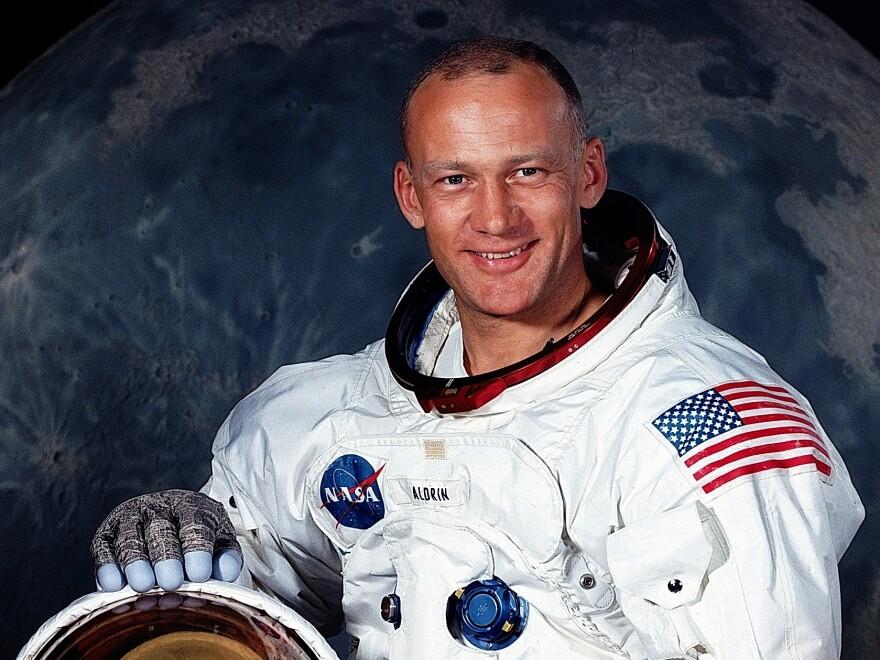 American astronaut Buzz Aldrin in July 1969.