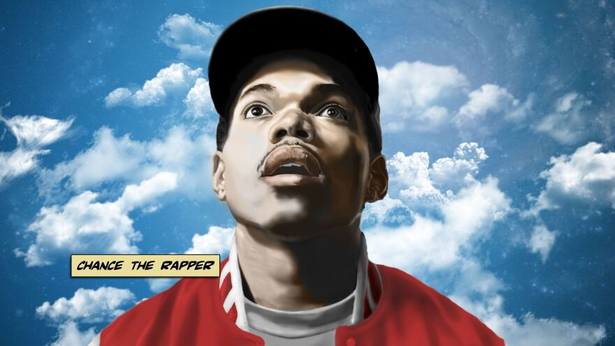 """Cover art for Chance The Rapper's debut mixtape, <em>10 Day</em> — it was the first in a """"trilogy"""" of illustrations for the Chicago artist done by Brandon Breaux."""