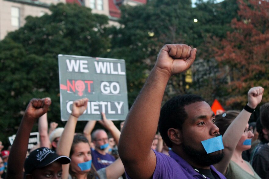 Hundreds of people joined a protest in mid-September that lasted more than three hours and resulted in zero arrests.