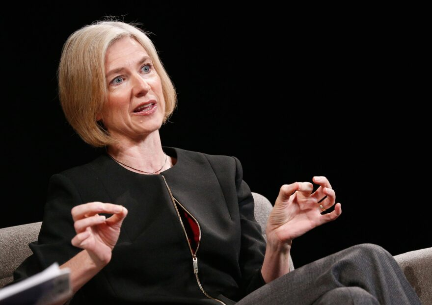 Technology co-inventor CRISPR-CAS9 Jennifer Doudna speaks onstage at WIRED Business Conference In New York City on June 7, 2017. (Brian Ach/Getty Images for Wired)