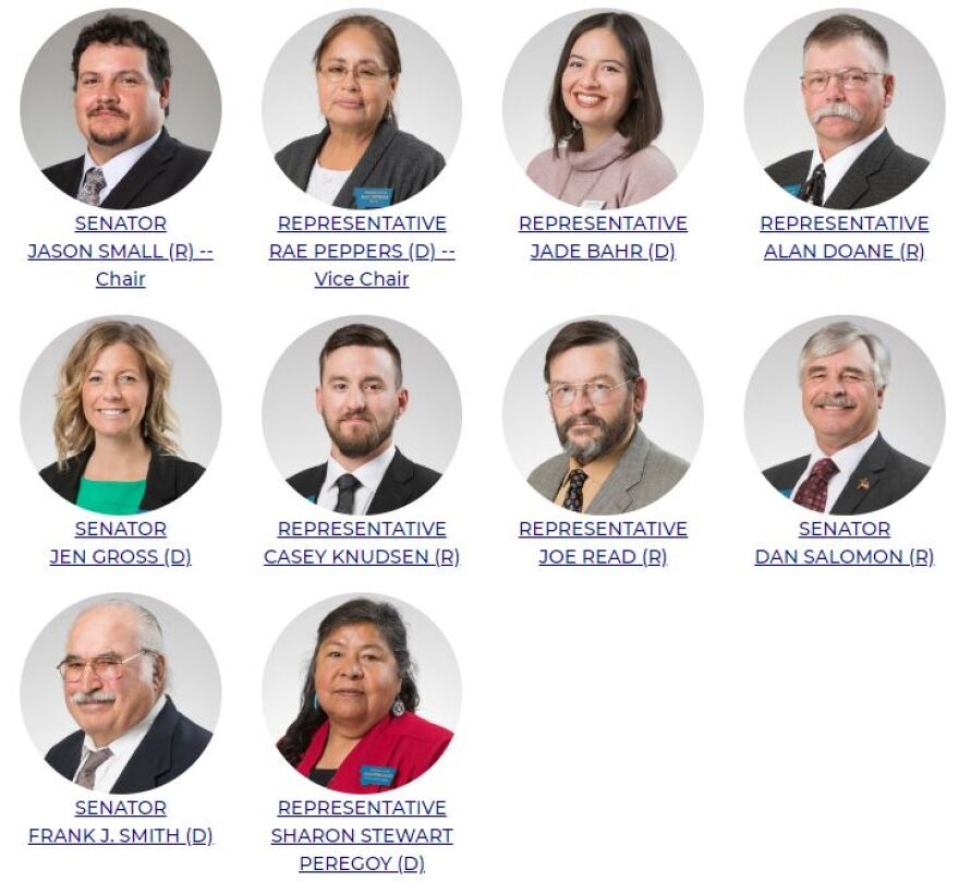 Headshots of members of the 2019-2020 Montana State-Tribal Relations Committee
