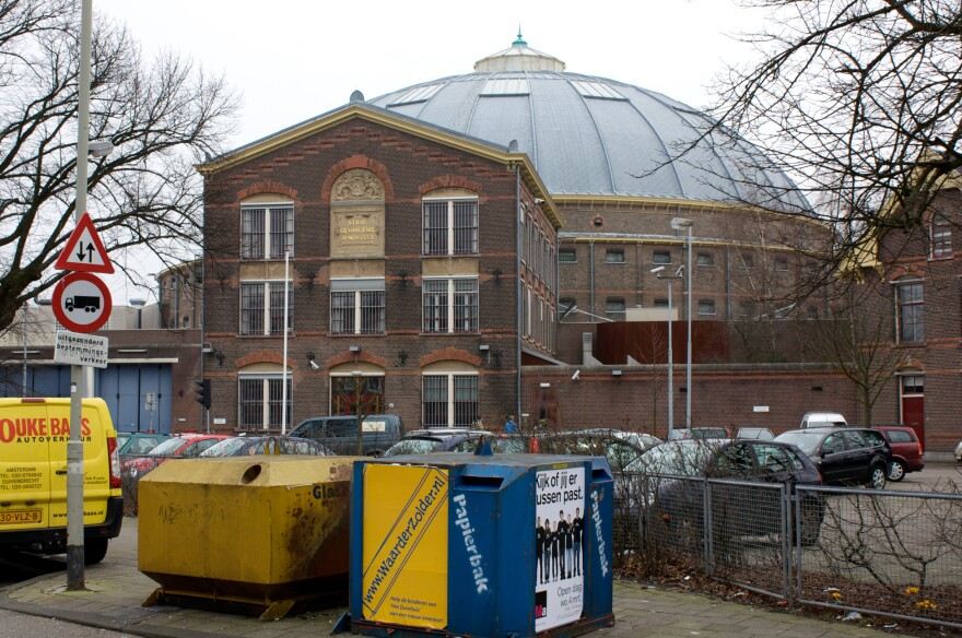 A 19th-century prison in the Dutch city of Haarlem has been converted into a temporary residence for refugees.