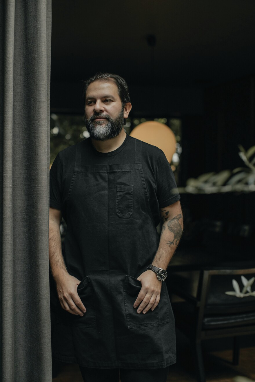 Enrique Olvera grew up spending hours in his grandmother's bakery in Mexico City. His formal culinary training is steeped in European techniques.
