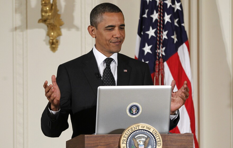 """President Barack Obama might have just gotten his own Twitter account, but he's been tweeting for years, such as during this """"Twitter Town Hall"""" in 2011."""