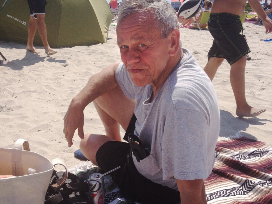 Bob Skierski at the beach in Avalon, N.J., just hours before he fell ill and went to the hospital. He never went home.