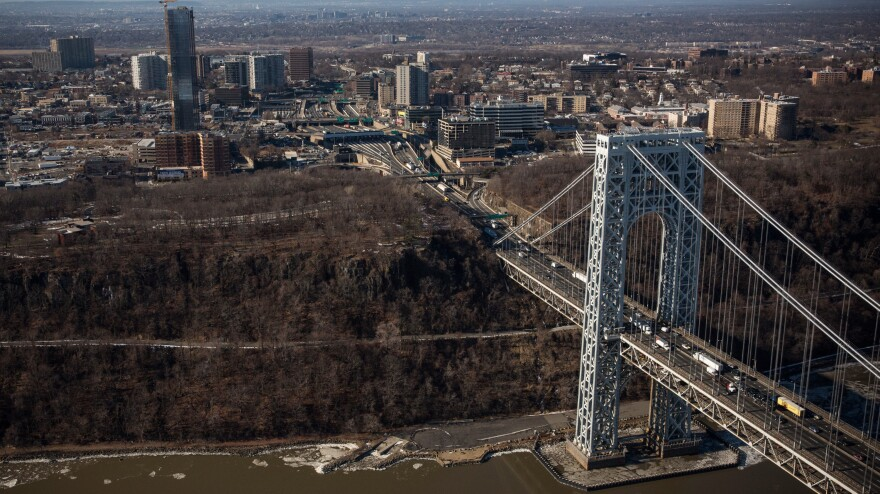Newly released documents depict officials discussing the controversial September closure of several lanes leading to the George Washington Bridge from Fort Lee, N.J. Here, the New Jersey side of the bridge, which leads to New York City, is seen Thursday.