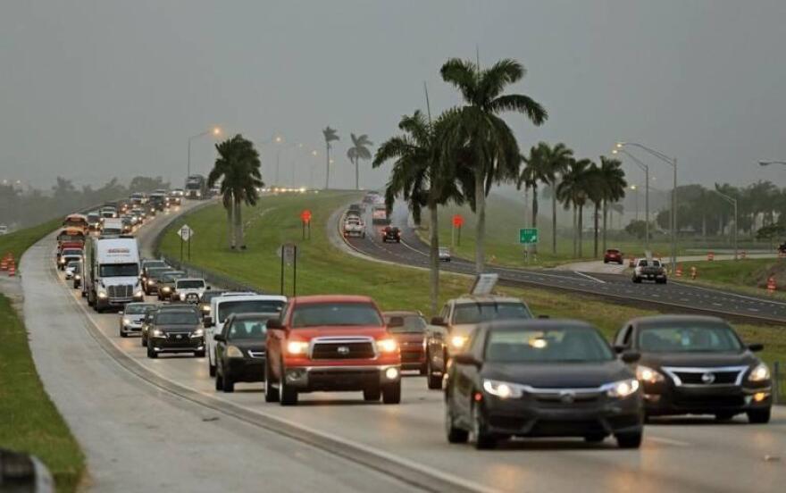 Floridians evacuate during Hurricane Irma in 2017. AL DIAZ/Miami Herald