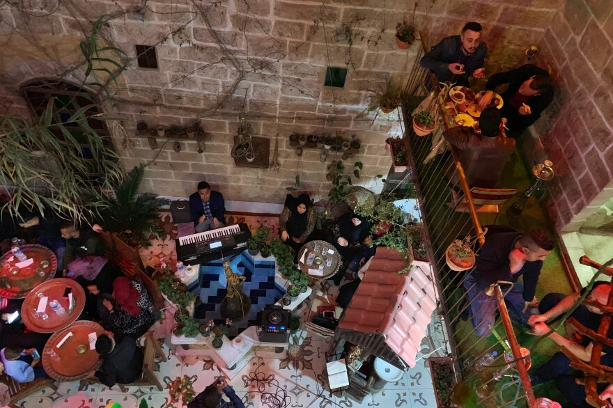"""Beit Sitti, Arabic for """"my grandmother's house,"""" opened in 2017. The cafe is an ode to Palestinian cultural heritage in Gaza's Old City."""